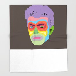 Hallo Spaceboy Throw Blanket