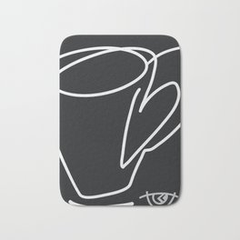 Cuppa Candor [Noir] Bath Mat