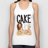 cake Tank Tops featuring CAKE  by Helen Green