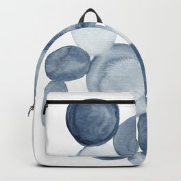 Pebbles Watercolor Abstract Backpack