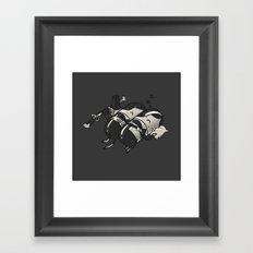 Sleeping Pillgrims Framed Art Print