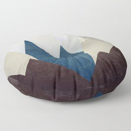 The Moon Over The Mountains Floor Pillow