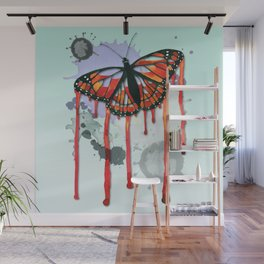 Leaking butterfly Wall Mural