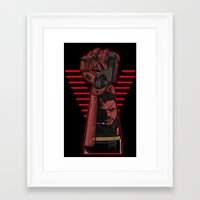 metal gear Framed Art Prints featuring Metal Power Gear by Akyanyme