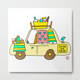 cute car Metal Print