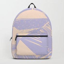 Modern lilac ivory violet geometrical shapes patterns Backpack