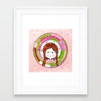 virgo Framed Art Prints featuring Virgo by Sandra Nascimento
