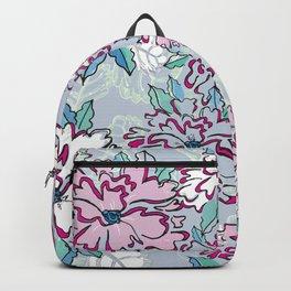 Blue Fresh Florals Backpack