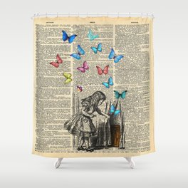 Alice In Wonderland - Let The Adventure Begin Shower Curtain
