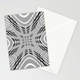 Starburst, black and white op art Stationery Cards