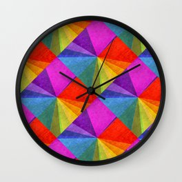 Poster Glaze Textured Retro Art Wall Clock