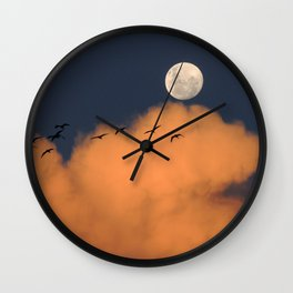 Moon cloud sky 7 Wall Clock