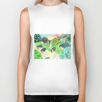 psychedelic Biker Tanks featuring Psychedelic by Risahhh