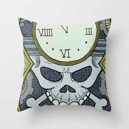 Death Clock Throw Pillow