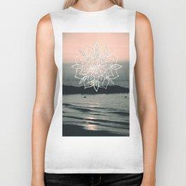 Twilight Mandala Ocean Bliss Dream #1 #sunset #decor #art #society6 Biker Tank