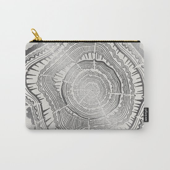Growth Rings – 65 Years – Silver Carry-All Pouch