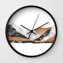 Marble Landscape I, Minimal Art Wall Clock