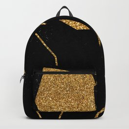 Gold Glitter Nude in One Line Backpack
