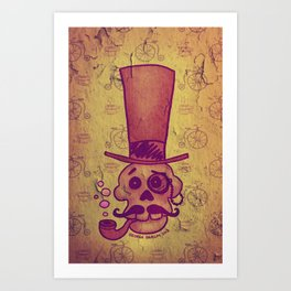 Skull Dandy Art Print