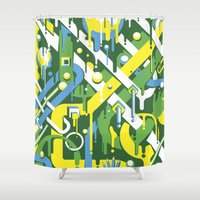 brazil Shower Curtains featuring Brazil by Roberlan Borges