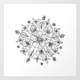 Flowers of Sulawesi Mandala  Art Print