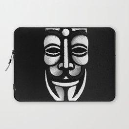 VforVendetta Mask Sculpture Laptop Sleeve