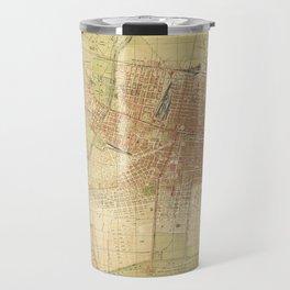Map of Mexico City from 1907 (Plano de la Ciudad de Mexico) Travel Mug
