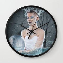 Rose water & crystal Wall Clock