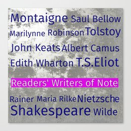 The Reader's Writers of Note Canvas Print
