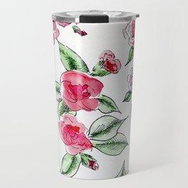 Rose Camelia Travel Mug