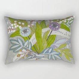 Mystical Flowers Rectangular Pillow