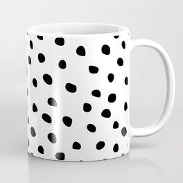 Abstract Dots on White Coffee Mug