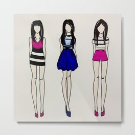 Fashion Designs Metal Print