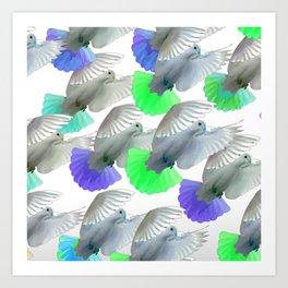 PIGEONS 2 Art Print