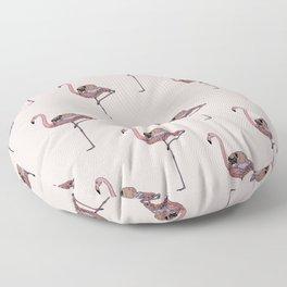 Flamingo and Pug Floor Pillow