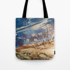 Spring White flowers Tote Bag