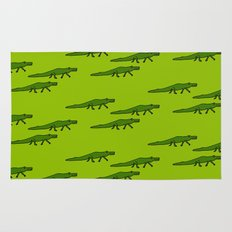 Alligators-Green Rug