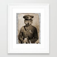 general Framed Art Prints featuring The general by Seamless