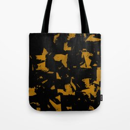 Looking For Gold - Abstract gold and black painting Tote Bag
