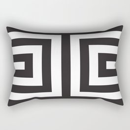 Black Greek Stripes Rectangular Pillow