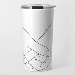 Hands line drawing illustration - Lala Travel Mug