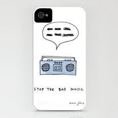 Stop the bad music iPhone (4, 4s) Slim Case