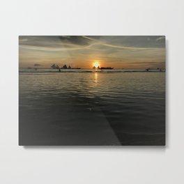 Boracay Sunset Twin Sails Metal Print