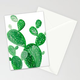 Green cactus Stationery Cards
