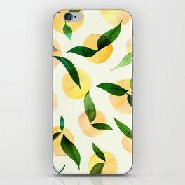 Sunny Lemon Print ~ Yellow and Green iPhone Skin