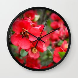 JAPANESE QUINCE Wall Clock