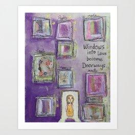 Windows into Love Art Print