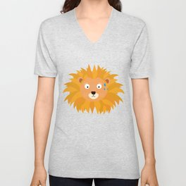 Sweating lion head T-Shirt for all Ages D3qq6 Unisex V-Neck