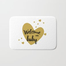 welcome new baby Bath Mat