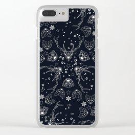 Arctic geometric dark Clear iPhone Case